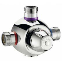 """DN20, 3/4"""" termosztatikus keverő, DELABIE Premix Comfort, 55 liter / perc, forrázásgátlós, szűrőkkel és visszacsapó szeleppel"""