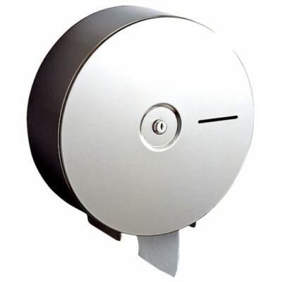 Nagytekercses ipari WC-papír tartó, r.m. acél, fényes, maxi, 28 cm
