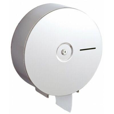 Nagytekercses ipari WC-papír tartó, r.m. acél, matt, maxi D=322mm!