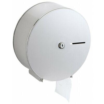 Nagytekercses, közületi WC-papír tartó, r.m. acél, matt, D=275mm!