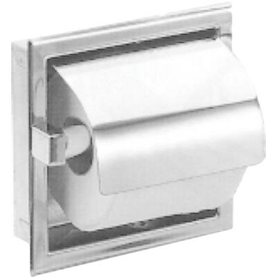 Beépített kistekercses WC-papír adagoló, r.m. acél, matt, 1 tekercses