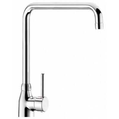 DELABIE keverőkaros mosogató csaptelep hideg-meleg vízre, 300 mm hosszú és 315 mm magas lengő kifolyóval, álló, 20 liter/perc