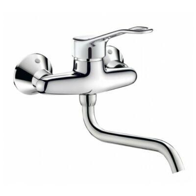 DELABIE fali mosogató csaptelep, karos, hideg-meleg vízre, 200 mm-es kifolyóval