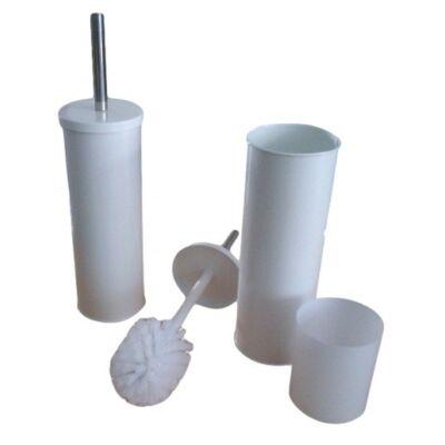 Fali WC-kefe, fehér szinterezett r.m. acél, fali/álló