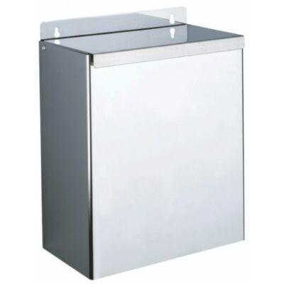 DELABIE fali fedeles hulladékgyűjtő, 13 liter, 1 mm vastag r.m. acél, fényes