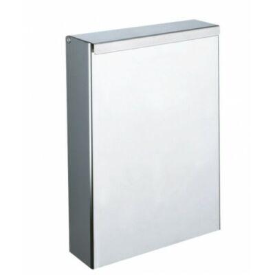 DELABIE fali fedeles hulladékgyűjtő, 4,5 liter, 1 mm vastag r.m. acél, fényes