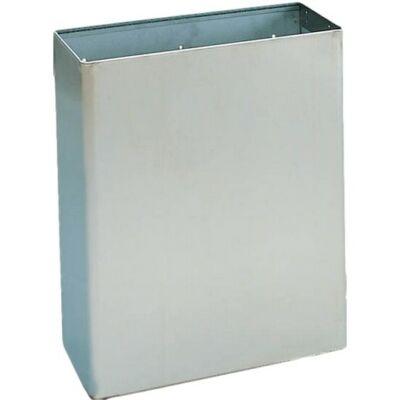 Fali fedő nélküli hulladékgyűjtő, r.m.acél, matt, 23 l