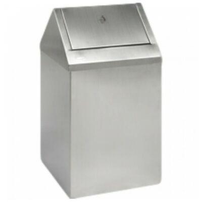 Billenőtetős hulladékgyűjtő, 90 liter, r.m. acél, matt