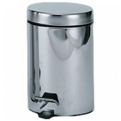 Pedálos hulladékgyűjtő 30 literes, kerek, fényes