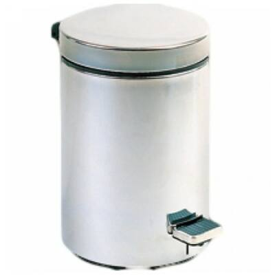 Pedálos hulladékgyűjtő 30 literes, kerek, matt