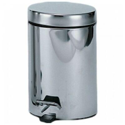 Pedálos hulladékgyűjtő 5 liter, kerek, fényes