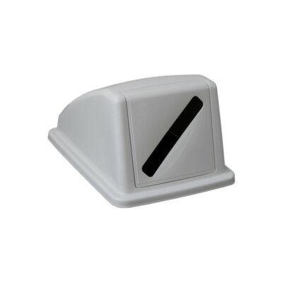 Fedél K60 szelektív hulladékgyűjtőhöz, szürke, papírhulladékhoz