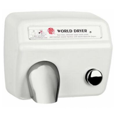 DA548-974 WORLD DRYER Model A nyomógombos, időzített kézszárító, acél, fehér