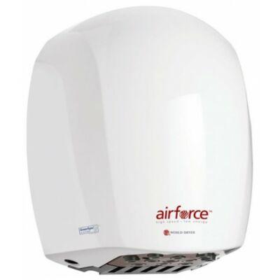 J48-974 WORLD DRYER AIRFORCE antibakteriális kézszárító, alumínium, fehér, 1100 W, 12 mp, 83 dB