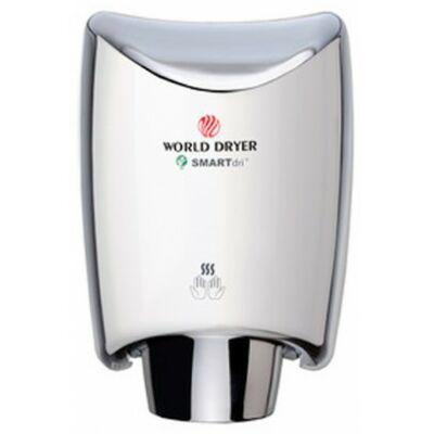 K48-970 WORLD DRYER SMARTdri okos kézszárító, alumínium, fényes, 400-1200 W, 10 mp, 85 dB