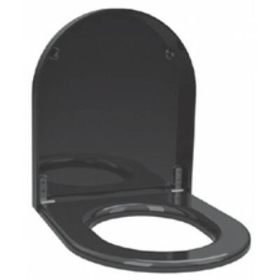 WC-ülőke fedővel vandálbiztos WC-hez, duroplast, fekete