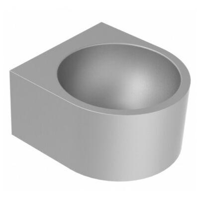 Vandálbiztos fali mosdó szifontakaró nélkül, r.m acél, selyem, 1,2 mm falvastagság