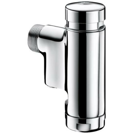 """DELABIE TEMPOFLUX 1 falon kívüli időzített nyomógombos direkt öblítésű WC öblítőszelep beépített elzárószeleppel, 3/4""""-os vízbekötéssel, víztakarékos"""