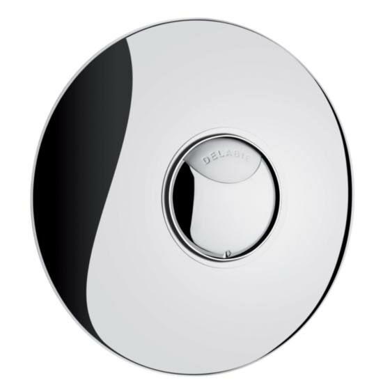 DELABIE TEMPOFLUX 2 időzített nyomógombos WC öblítőszelep, kétmennyiségű öblítéssel, víztakarékos, vandálbiztos, rejtett csavarozással, sárgaréz előlappal