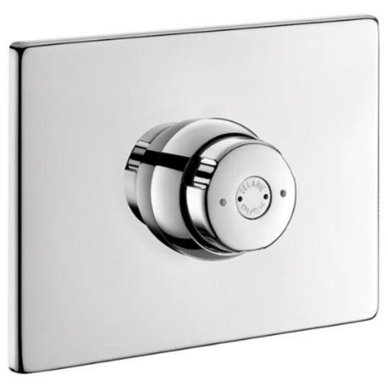 DELABIE TEMPOSTOP vandálbiztos, időzített nyomógombos zuhany csaptelep, kevert vízre, vízmentesen zárt szerelődobozban