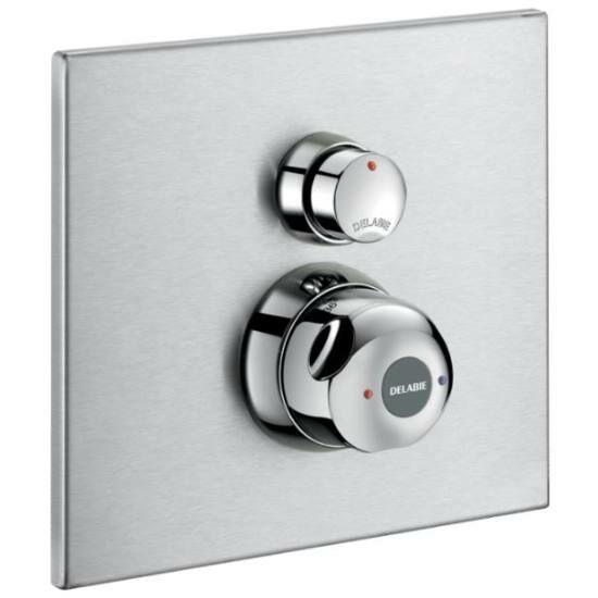 DELABIE SECURITHERM vandálbiztos, időzített, termosztatikus keverőszelepes zuhanycsaptelep