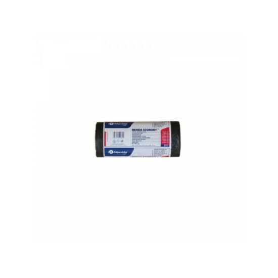 Hulladékgyűjtő zsák, 44X50 CM, 20L, fekete,  50 DB