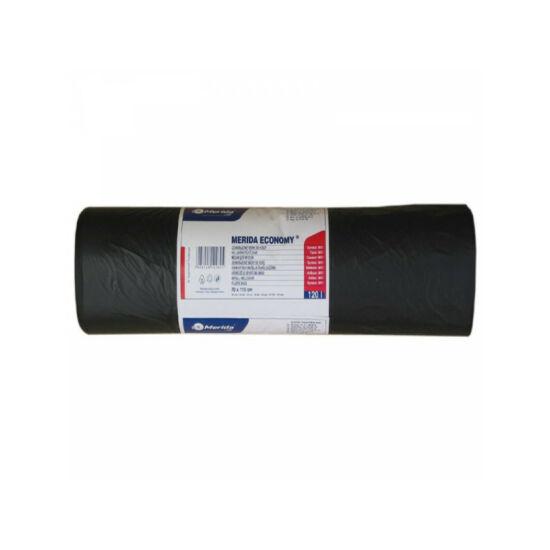Hulladékgyűjtő zsák, 70X110 CM, 120L, fekete, 50 DB