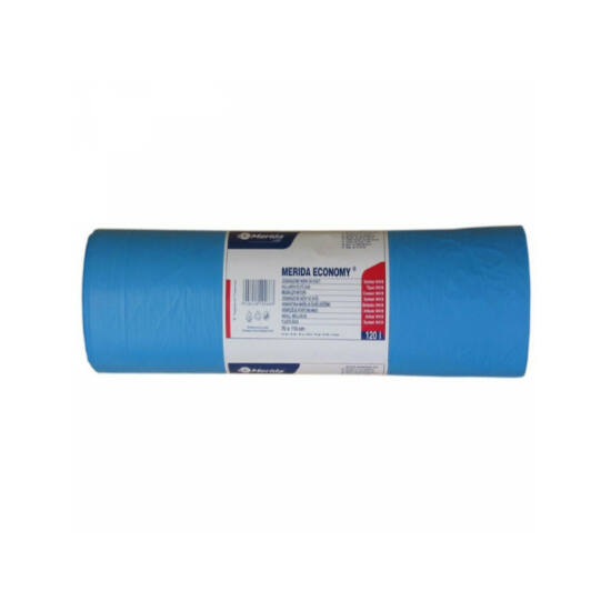 Hulladékgyűjtő zsák, 70X110 CM, 120L, kék, 50 DB