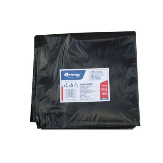 Hulladékgyűjtő zsák, 90X110 CM, 60L, fekete, 10 DB