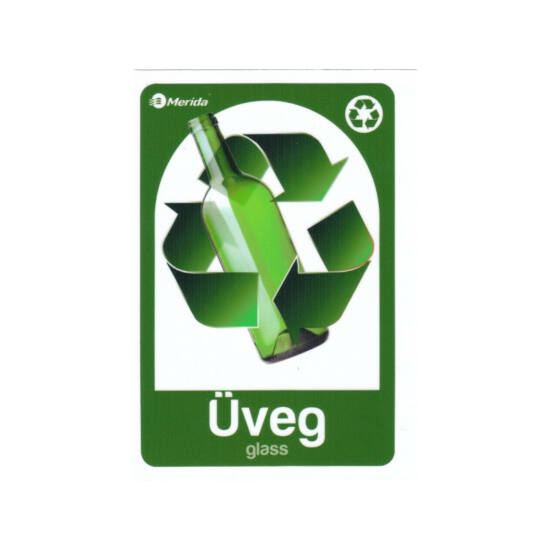 Szelektív hulladékgyűjtő matrica,üveg