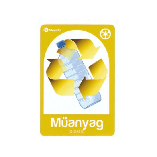 Szelektív  hulladékgyűjtő matrica, műanyag