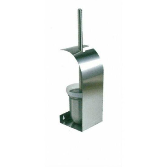 Falra szerelhető WC-kefe tartó, r.m. acél, selyem, INOX