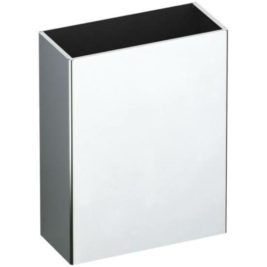 DELABIE vandálbiztos fali hulladékgyűjtő, fedő nélküli,25 literes, 1 mm vastag r.m. acél, fényes