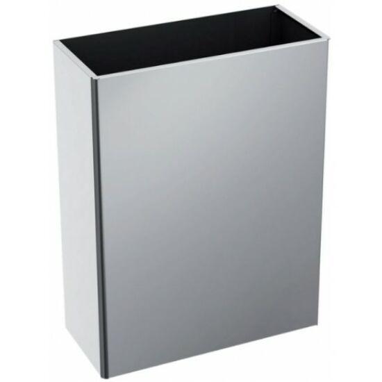 DELABIE fali hulladékgyűjtő, fedő nélküli, robusztus kialakítás, 38 literes, 1 mm vastag r.m. acél, fényes