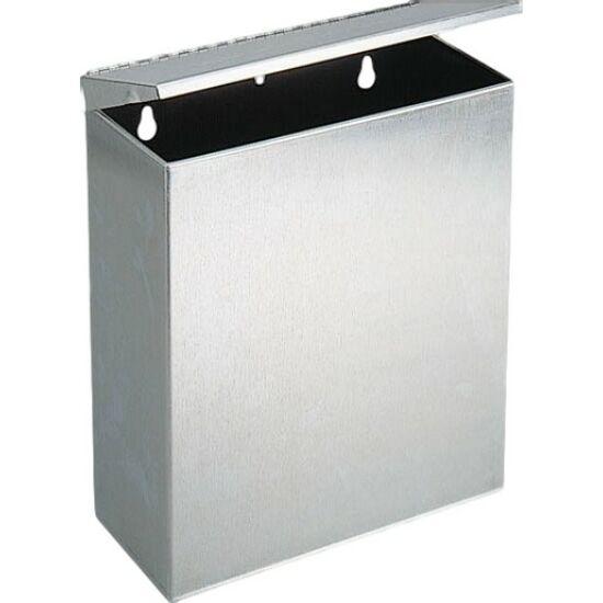 Fali fedeles intim hulladékgyűjtő, r.m. acél, matt, Silk Touch ujjlenyomatmentes felülettel, 5 l