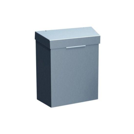 Intim hulladékgyűjtő, 4,5l falra szerelhető, rozsdamentes, szálcsiszolt
