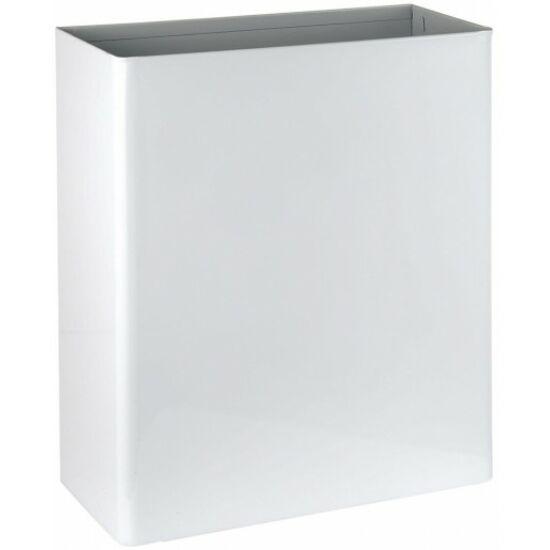 Fali fedél nélküli hulladékgyűjtő, acél, fehér, 23 l