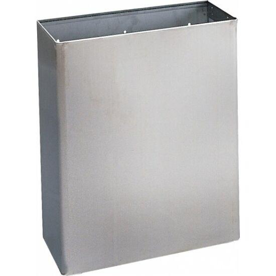 Fali fedő nélküli hulladékgyűjtő, r.m.acél, fényes, 23 l