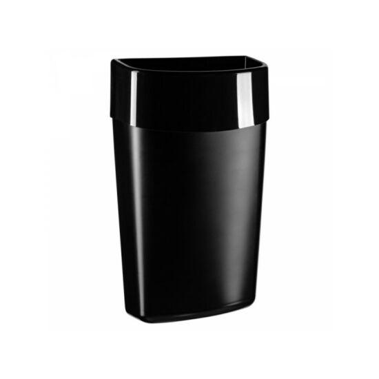 Merida One hulladékgyűjtő,40l-es falra szerelhető, ABS, műanyag, fekete
