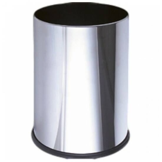 Fedél nélküli szemetes kuka, 9 liter, r.m. acél, fényes