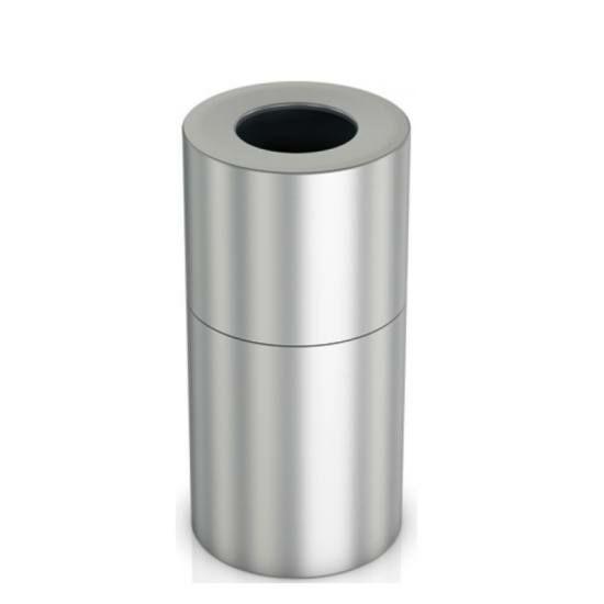 Nagy méretű álló hulladékgyűjtő 70 literes belső műanyag tartállyal, 775 mm magas, alumínium, selyem színű ujjlenyomatmentes bevonattal kezelt testtel