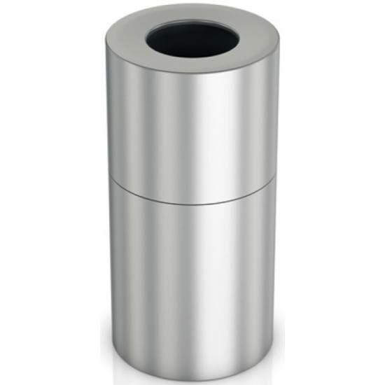Extra nagy méretű álló hulladékgyűjtő 130 literes belső műanyag tartállyal, 830 mm magas, alumínium, selyem színű ujjlenyomatmentes bevonattal kezelt testtel