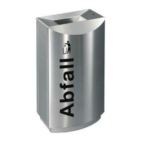 TEMPTATION FF1 vandálbiztos álló hulladékgyűjtő 1 db 70 literes belső fém szemetes rekesszel, rendszerkulccsal zárható, tűzálló / önoltó, 1,5 mm vastag rozsdamentes acél ház, selyem