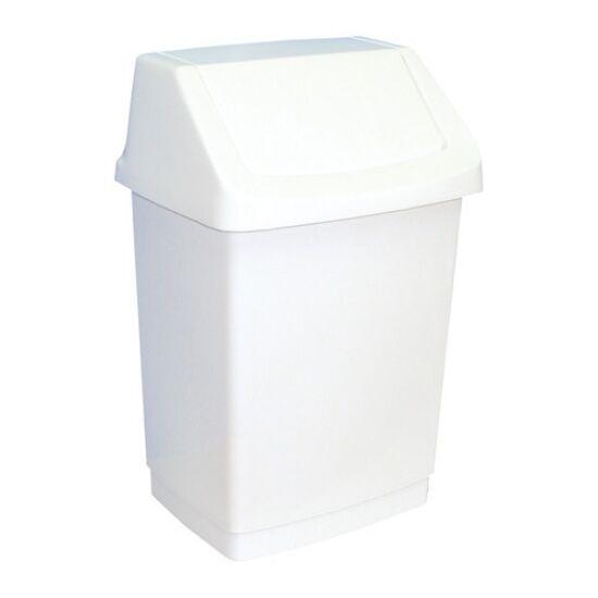 Billenőfedeles műanyag szemetes kuka, 15 l