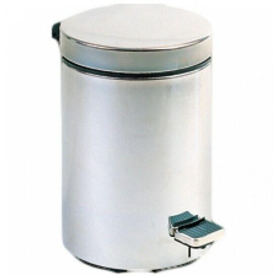 Pedálos hulladékgyűjtő 12 liter, kerek, matt