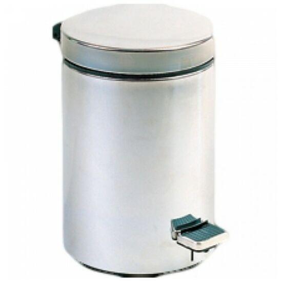 Pedálos hulladékgyűjtő 5 liter, kerek, matt
