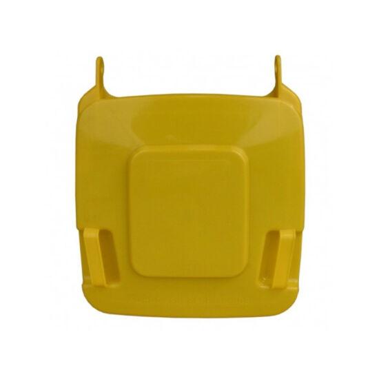Fedél K120 szelektív hulladékgyűjtőhöz, sárga