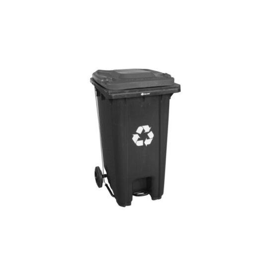 Mobil hulladékgyűjtő,120l, műanyag, lábpedálos, fedél nélküli