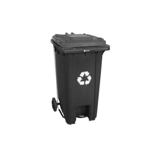Mobil hulladékgyűjtő, 240l , műanyag,lábpedálos, fedél nélkül