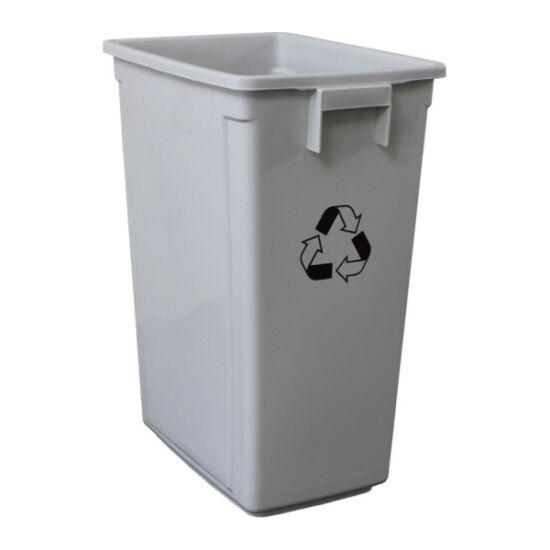 Szelektív hulladékgyűjtő fedél nélkül, szürke, 60 l